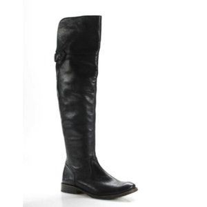 Frye Leather- Side Zip Over The Knee Boots Shirley